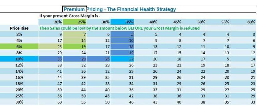 Premium Pricing Table