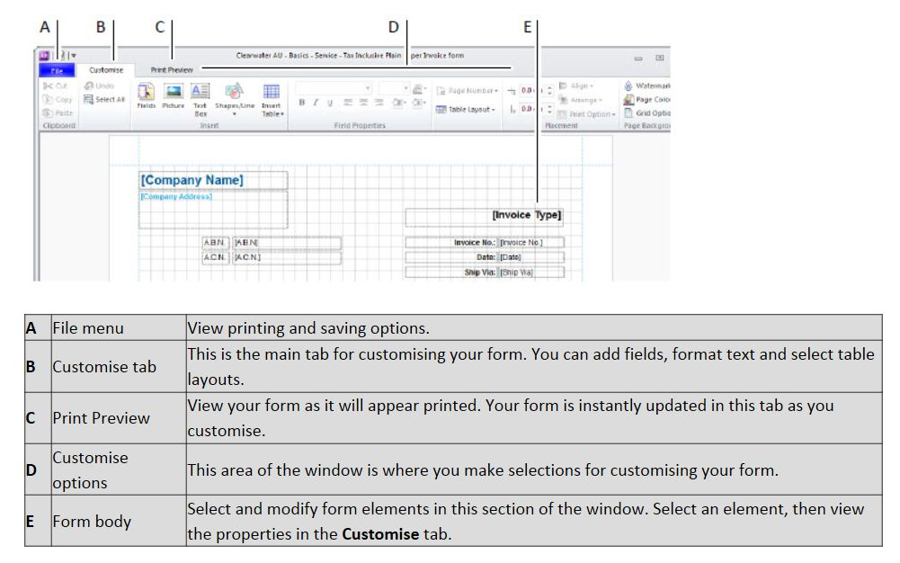 myob – tidy up for professional statements and invoices | account, Invoice templates