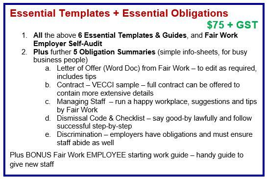Essential Templates + Essential Obligations