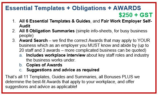Essential Templates + Obligations + AWARDS