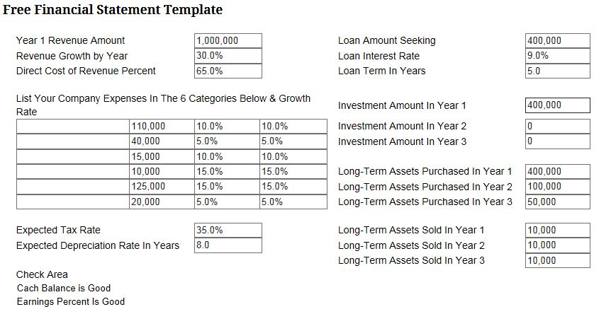 business finance 101 simple financial reporting template. Black Bedroom Furniture Sets. Home Design Ideas