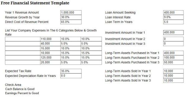 Free Fin Stmt Temp data
