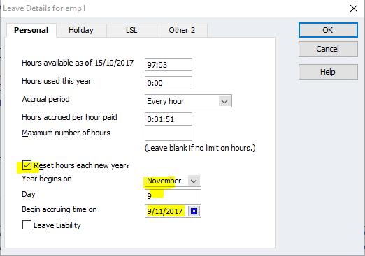RECKON / Quickbooks (former) – Leave amount incorrect on PAYSLIPS